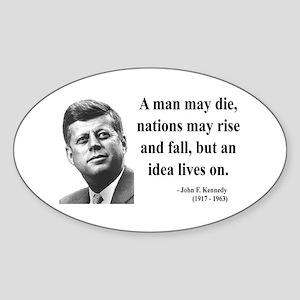John F. Kennedy 3 Oval Sticker