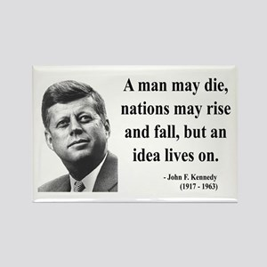 John F. Kennedy 3 Rectangle Magnet