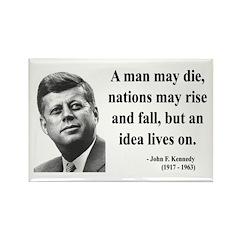 John F. Kennedy 3 Rectangle Magnet (100 pack)