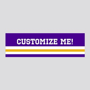 Purple and Gold Team Colors with 36x11 Wall Decal