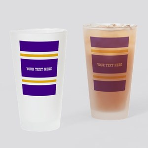 Purple and Gold Team Colors with Yo Drinking Glass