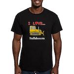 I Love Bulldozers Men's Fitted T-Shirt (dark)