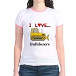 I Love Bulldozers Jr. Ringer T-Shirt