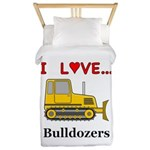 I Love Bulldozers Twin Duvet
