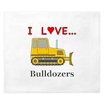 I Love Bulldozers King Duvet