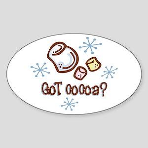 Got Cocoa Oval Sticker