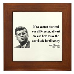 John F. Kennedy 4 Framed Tile