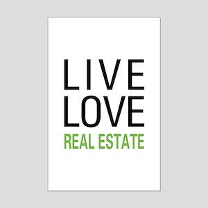 Live Love Real Estate Mini Poster Print