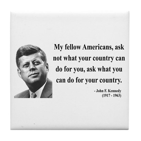 John F. Kennedy 5 Tile Coaster