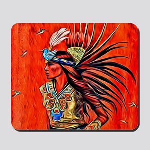 Aztec Bird Dancer Mousepad