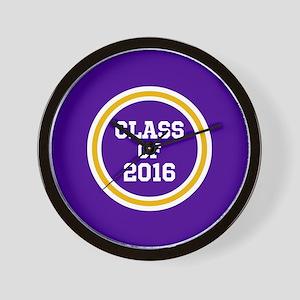 Senior Class 2016 Purple and Gold Schoo Wall Clock