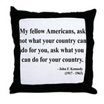 John F. Kennedy 5 Throw Pillow