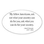 John F. Kennedy 5 Oval Sticker