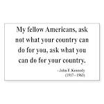 John F. Kennedy 5 Rectangle Sticker