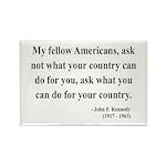 John F. Kennedy 5 Rectangle Magnet (10 pack)