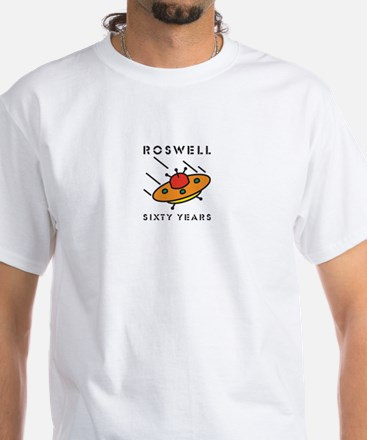 The 1947 Roswell UFO incident White T-Shirt