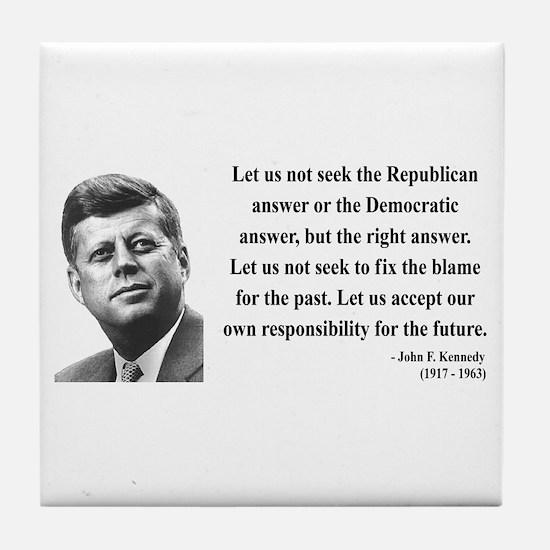 John F. Kennedy 6 Tile Coaster