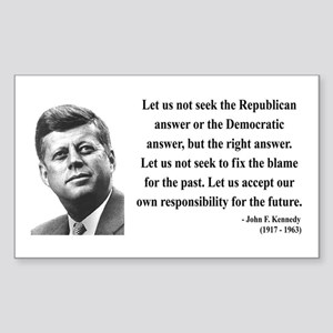 John F. Kennedy 6 Rectangle Sticker