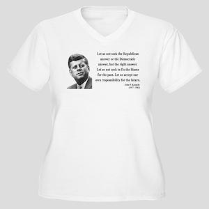 John F. Kennedy 6 Women's Plus Size V-Neck T-Shirt