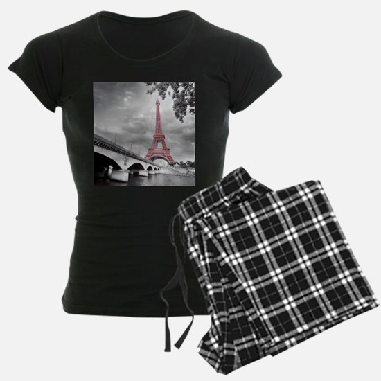 Pink Eiffel Tower Pajamas