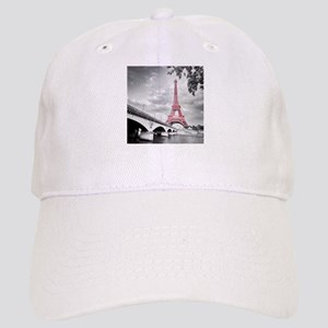 Pink Eiffel Tower Baseball Cap