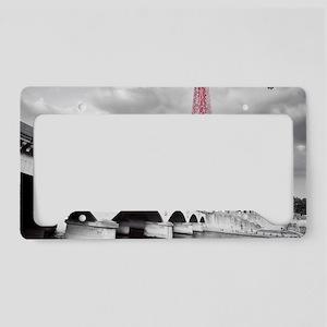 Pink Eiffel Tower License Plate Holder