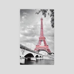 Pink Eiffel Tower Area Rug