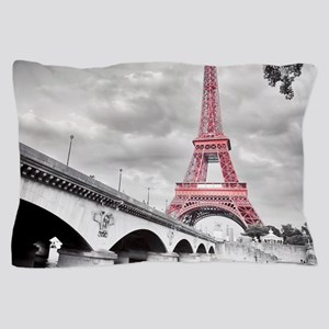 Pink Eiffel Tower Pillow Case