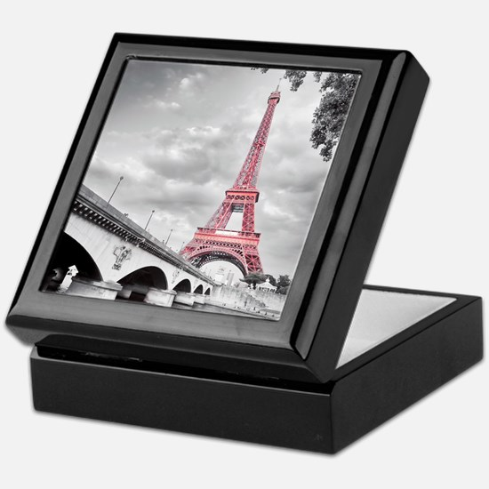 Pink Eiffel Tower Keepsake Box