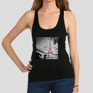 Pink Eiffel Tower Racerback Tank Top