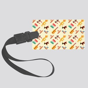 mexican watercolor Large Luggage Tag