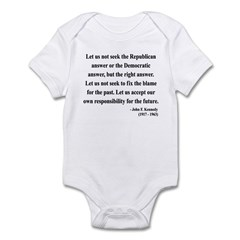 John F. Kennedy 6 Infant Bodysuit