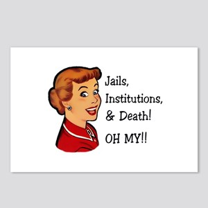 Jails, Institutions, & Death! OH MY! Postcards (Pa
