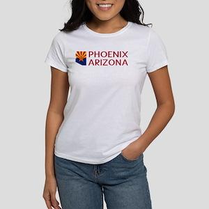 Arizona: Phoenix (State Shape & Flag) T-Shirt