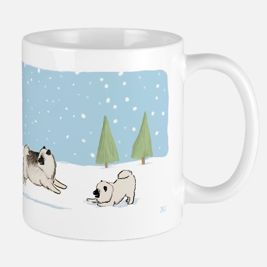 Keesies in the Snow Mug