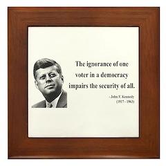 John F. Kennedy 8 Framed Tile