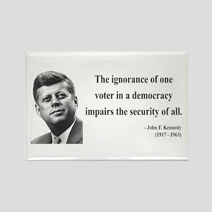 John F. Kennedy 8 Rectangle Magnet