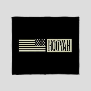 U.S. Navy: Hooyah (Black Flag) Throw Blanket