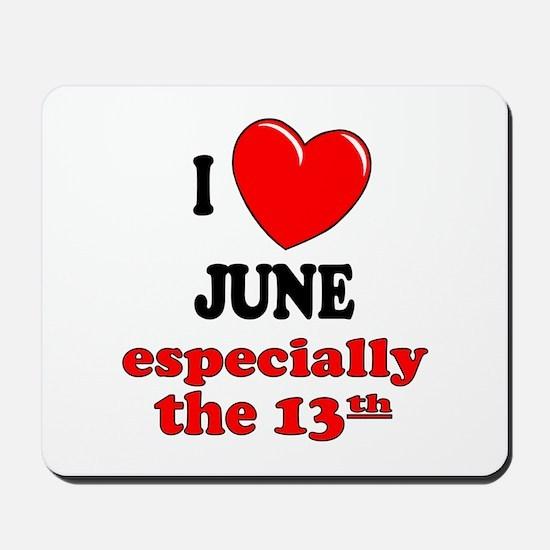 June 13th Mousepad