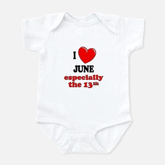 June 13th Infant Bodysuit