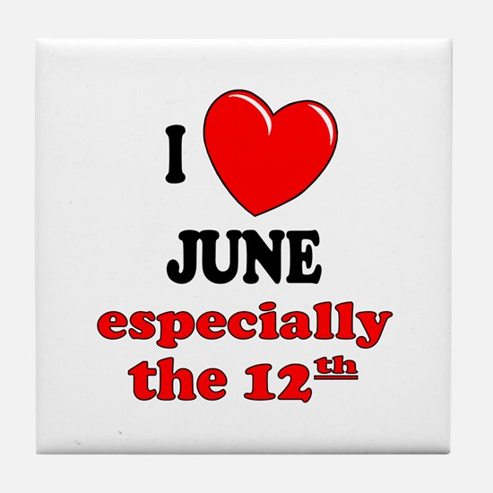 June 12th Tile Coaster