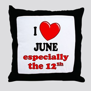 June 12th Throw Pillow