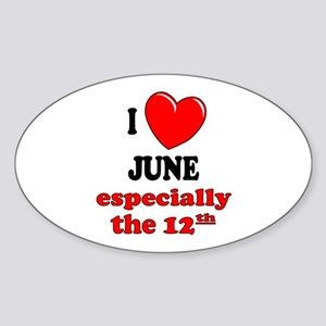 June 12th Oval Sticker