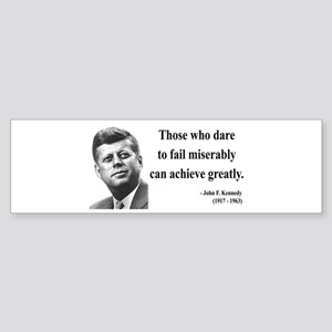 John F. Kennedy 9 Bumper Sticker