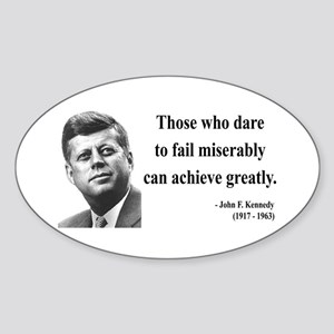 John F. Kennedy 9 Oval Sticker