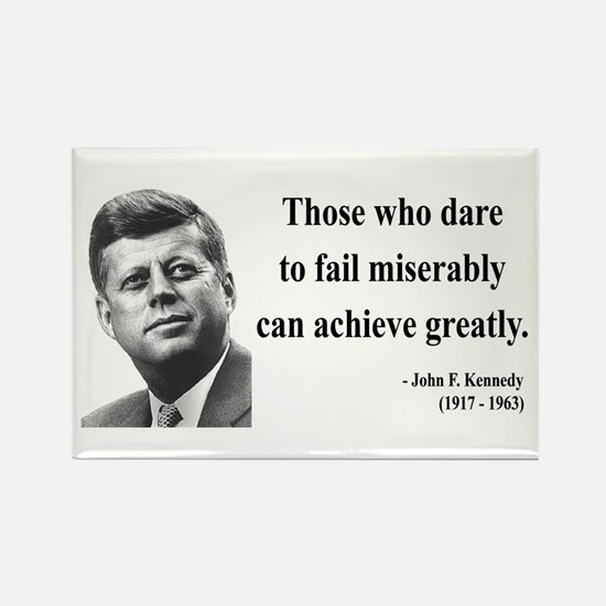 John F. Kennedy 9 Rectangle Magnet