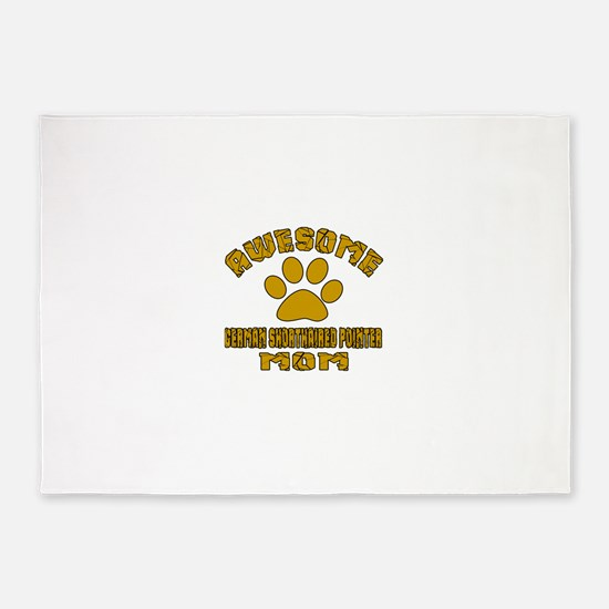 Awesome German Shorthaired Pointer 5'x7'Area Rug