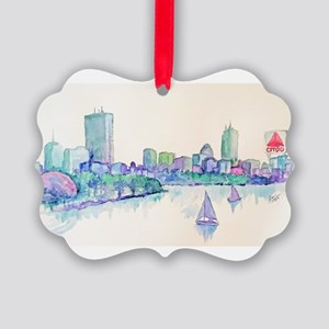 Boston Skyline Picture Ornament