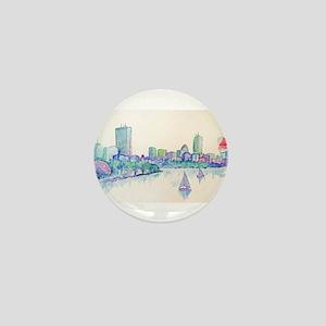 Boston Skyline Mini Button