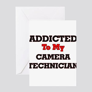 Addicted to my Camera Technician Greeting Cards